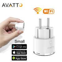 Prise Wifi intelligente AVATTO Mini Standard 16A ue avec moniteur d'alimentation, prise de courant intelligente fonctionne avec Google Home, commande vocale Alexa
