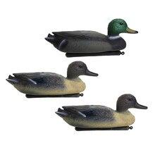 3 señuelos flotantes de pato Drake, cebo de caza, adornos para jardín