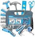 Hi-Spec 86 шт колледж общежития набор инструментов для дома DIY ручной набор игрушечных инструментов подарочные инструменты в пластиковый чехол ...