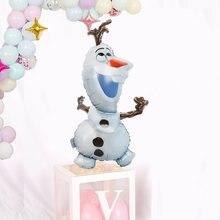 1pc disney olaf dos desenhos animados elsa anna neve rainha princesa balões de folha ar inflável globo chuveiro do bebê decorações da festa de aniversário
