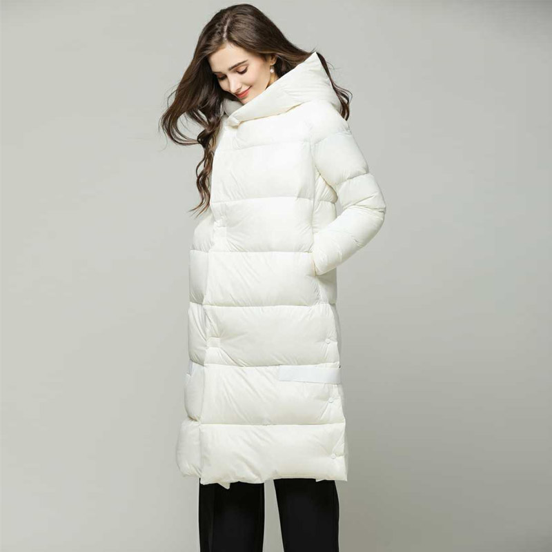 Female Down Parka Winter Jacket Women 90% White Duck Down Jacket Hooded Thick Warm Coat Outerwear Women Winter Feather Clothing