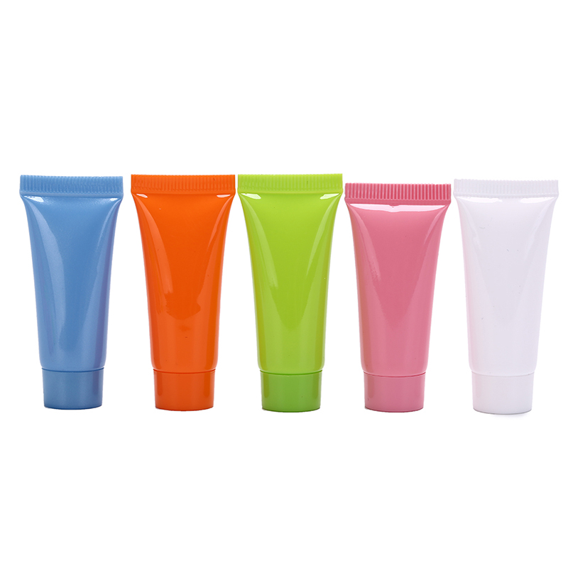 Hot 5pcs 5ml Cosmetic Soft Tube Plastic Lotion Containers Empty Makeup Squeeze Tube Refilable Bottles Emulsion Cream Packaging
