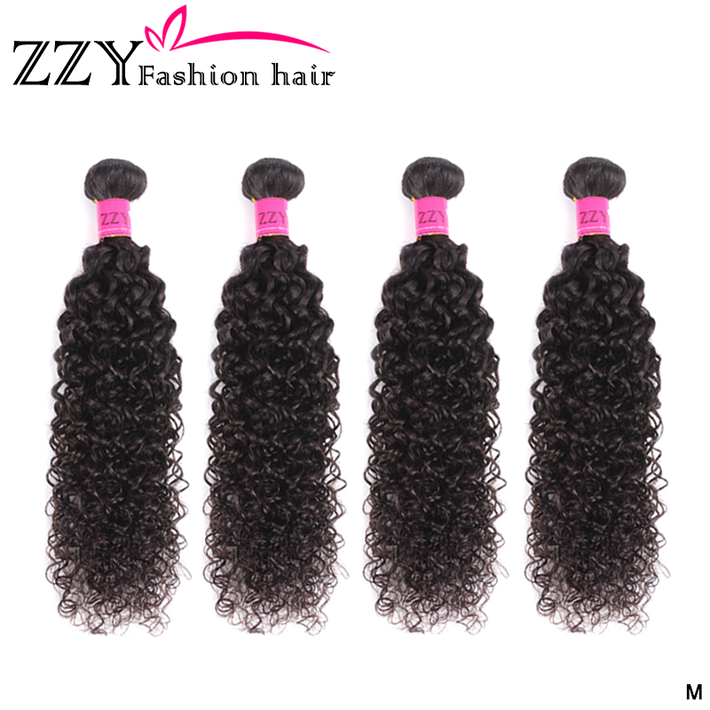 ZZY Fashion Hair Mongolian Kinky Curly Hair Bundles Human Hair 4 Bundles 8-26 Inch Non-remy Hair Bundles Weave Extensions