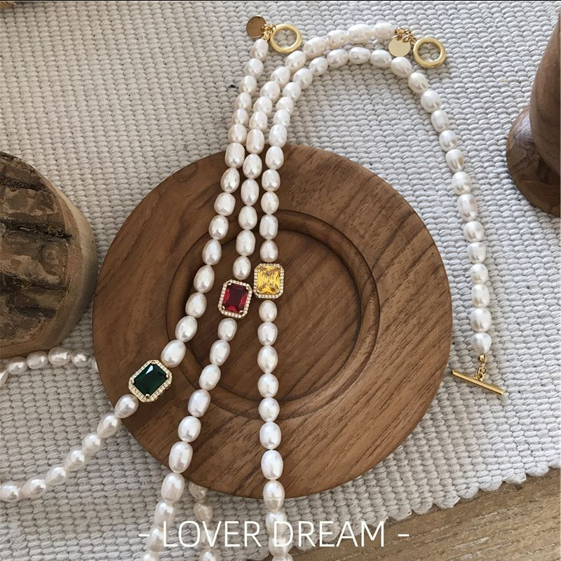 2020 Korean Vintage Natural Freshwater Pearl Choker Necklace Color Geometric Bracelet Baroque Pearl Jewelry Accessory For Women Best Sale 4820f7 Cicig