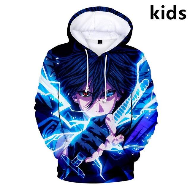 3 To 14 Years Kids Hoodies Uzumaki Printed Boys Girls Hoodie Cartoon Sweatshirt Casual Children Clothes