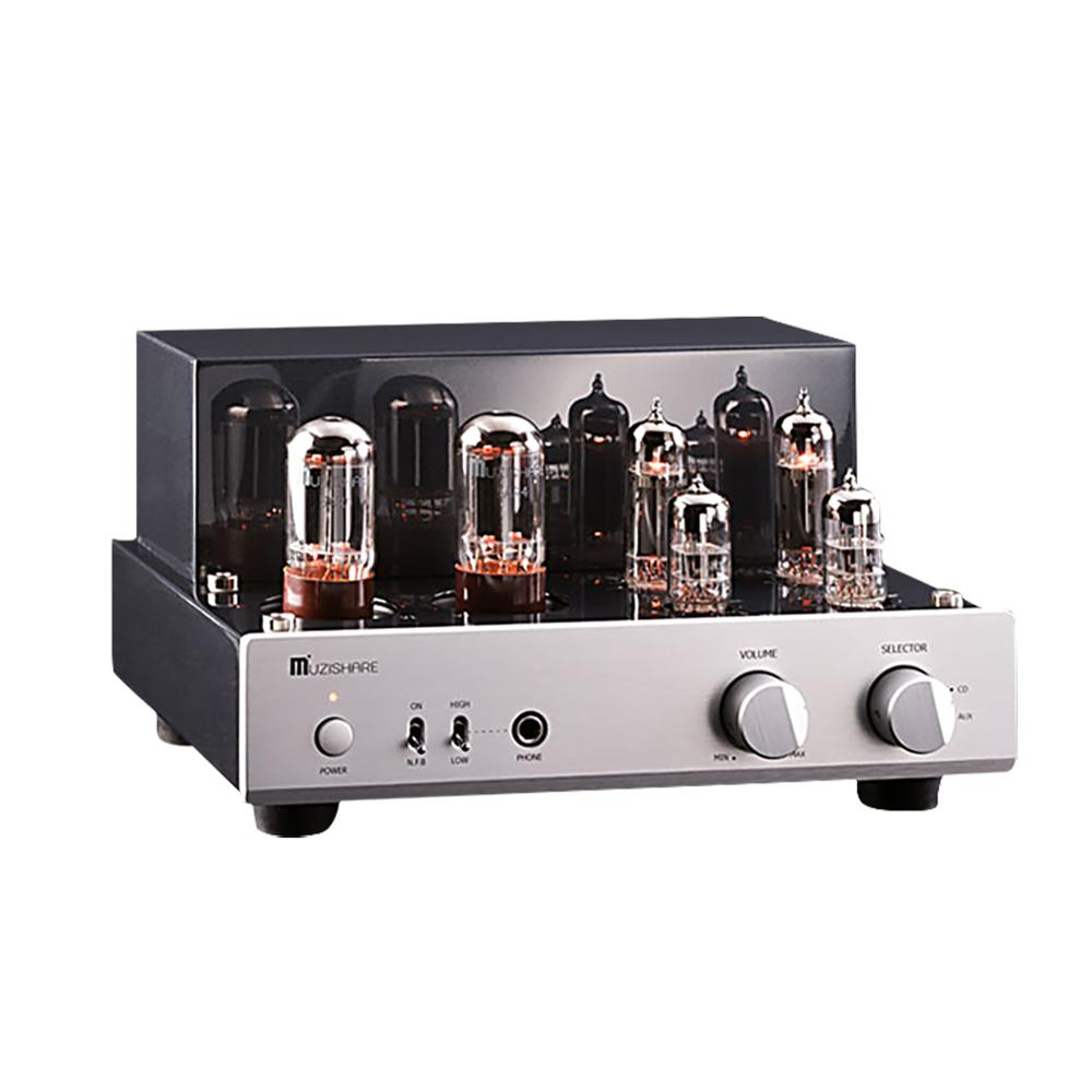 MUZISHARE X3T Tube Amplifier 5AR4*2 EL84 Tube Amplifiers Dual Rectifier Circuit Class A Single-ended Power Amp MZSX 3T