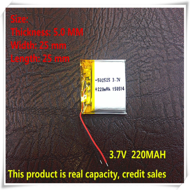 Free shipping - SD 502323 Small battery Lipo battery 3.7v 220mAh lithium polymer battery <font><b>502525</b></font> for Smart devices,bluetooth spea image