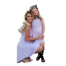 Fashion Family Sets Mother and I Dress Set Mother and Clothes family look mother daughter O-neck Sleeveless Women Clothes New недорого