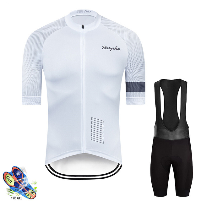 Pro raphaful ciclismo jérsei manga curta kit de roupas bicicleta mtb wear triathlon uniforme maillot raiders jérsei 2