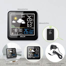 Baldr Lcd Kleur Indoor Outdoor Weerstation + Remote Sensor Thermometer Snooze Klok Bureau Wekker
