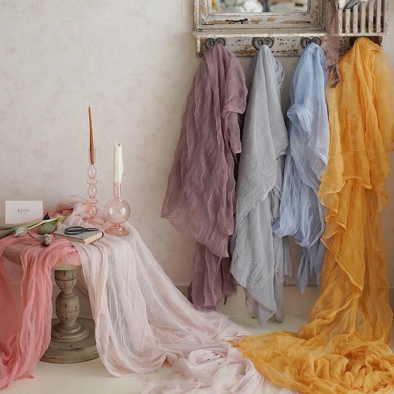 1.2mx3m Tulle Cloth Ruffled Fabric Backdrop Decoration Droping Wedding Birthday Party Photo Studio Flatlay Prop