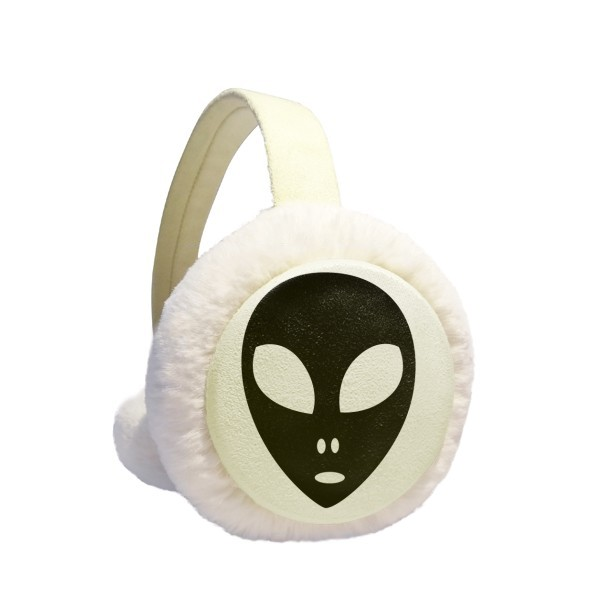 Universe Alien Monster Head Portrait Winter Earmuffs Ear Warmers Faux Fur Foldable Plush Outdoor Gift