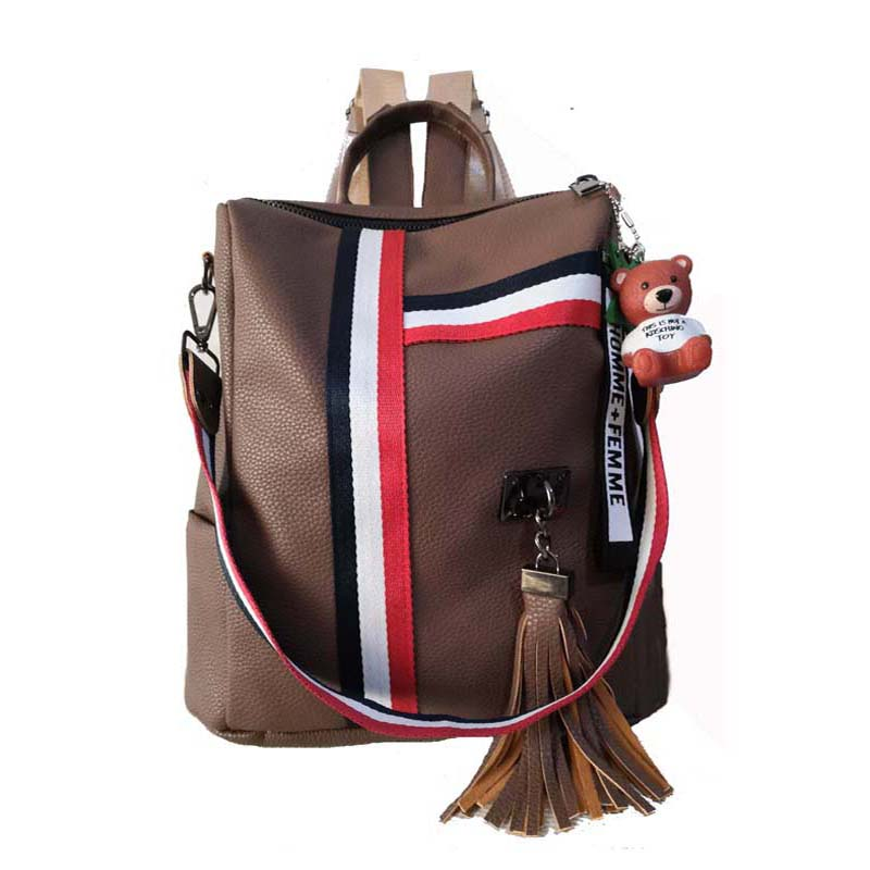bags for women 2020  new retro fashion zipper ladies backpack PU  Leather high quality school bag shoulder bag for youth bags