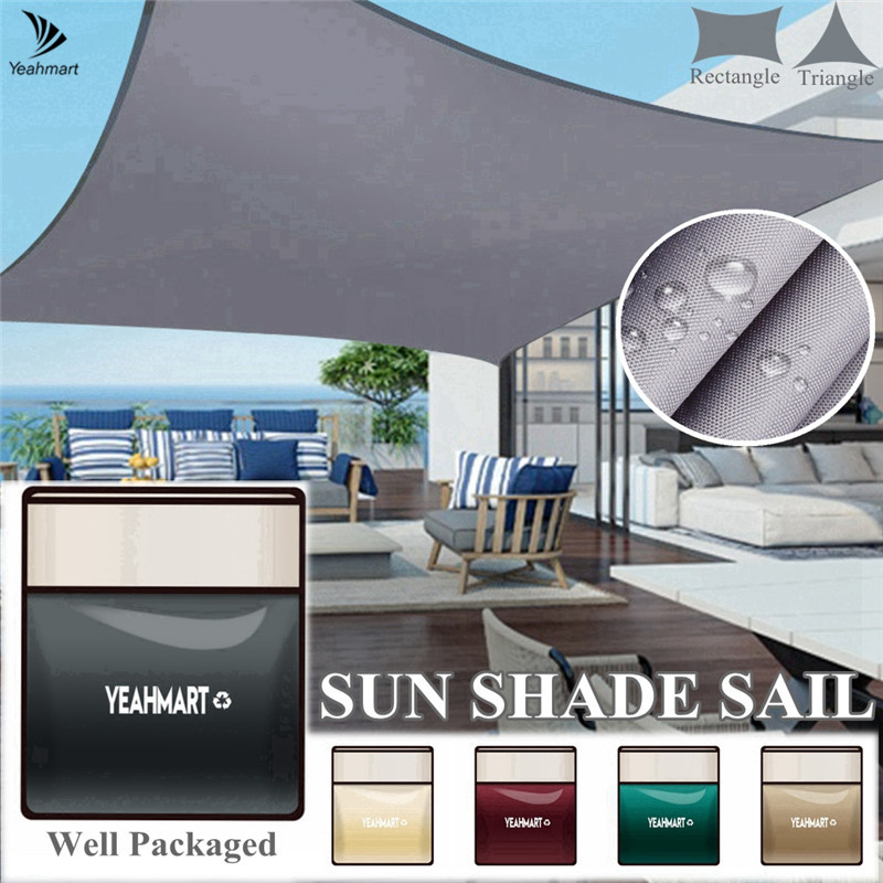 4x3M 5x5x5M Large Sun Shelter Sunshade Protection Outdoor Canopy Garden Patio Pool Shade Sail Awning Camping Shade Waterproof 6
