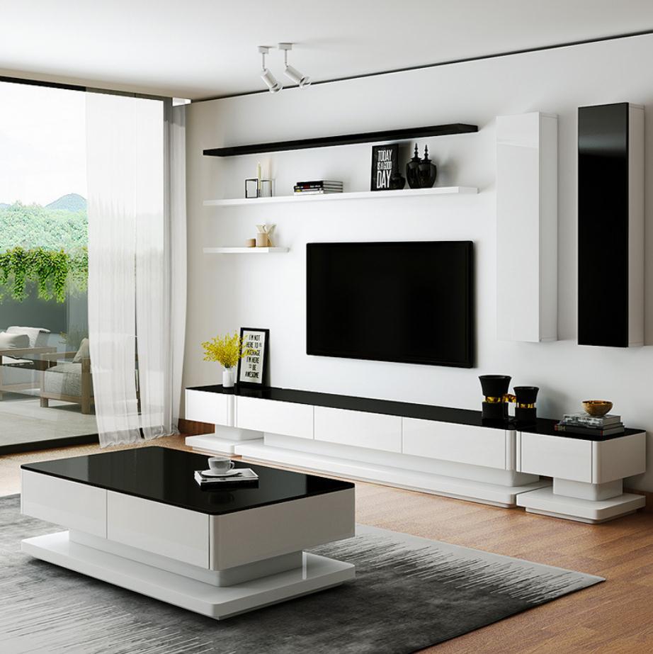 Старинная деревянная мебель для гостиной, ЖК-телевизор 7653