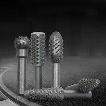 Files-Set Rotary Rasp Plastic Burr Grinding Wood Metal Drill for Soft 5pcs/Lot Black