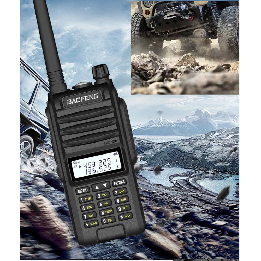 BAOFENG UVF10 8000 MAh Large Power IP67 Waterproof Handheld Radio Walkie Talkie 400-520MHz 128 Channels Hotel Civilian Intercom
