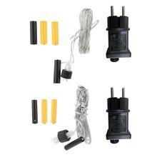 Переходник для батареи AA AAA с европейской вилкой, сменный 2x3 AA Питание от батареи типа ААА кабель питания для радиоприемника, светодиодный светильник, электрическая игрушка