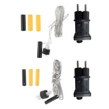 EU Plug AA AAA Battery Eliminator Replace 2x 3x AA AAA Battery Power Supply Cable for Radio LED Light Electric Toy