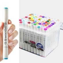 120 Color/Set Superior Twin Tips Artist Sketch Marker Set Alcohol Ink Mango Pen Animation Highlighter Design Pens
