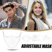 Masque facial Transparent et Transparent, pour adultes, unisexe, Durable, en plastique, réutilisable, bouclier, soins pour la peau