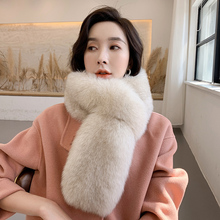 2019 Fashion Fox Fur Collars Korean Style 100% Real Scarves Women Wraps Scarf Warm top quality two side fur