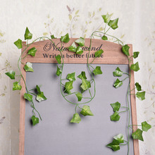 1pc Artificial Ivy Leaf Wreath Simulation Plant Vine Fake Leaf Wedding Decoration Home Garden Party Supplies