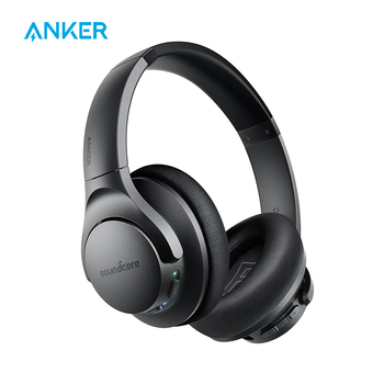 Anker Soundcore Life Q20 Hybrid Active Noise Cancelling Headphones, Wireless Over Ear Bluetooth Headphones samson professional z35 closed back studio headphones high protein leather comfortable over ear studio monitor headphones