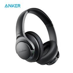 Auriculares Anker Soundcore Life Q20 híbridos con cancelación activa de ruido, auriculares inalámbricos con Bluetooth sobre la oreja