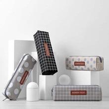 2020 Новая креативная клетка, горошек, холст, школьный чехол-карандаш, косметичка для хранения косметики, Прямая поставка #065