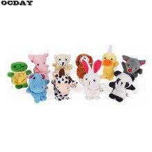 1 шт., животные-марионетки на пальцы, Детская плюшевая игрушка, реквизит для рассказов, кукла, ручная кукла, детские игрушки, детский подарок, животное, плюшевая пальчиковая кукла