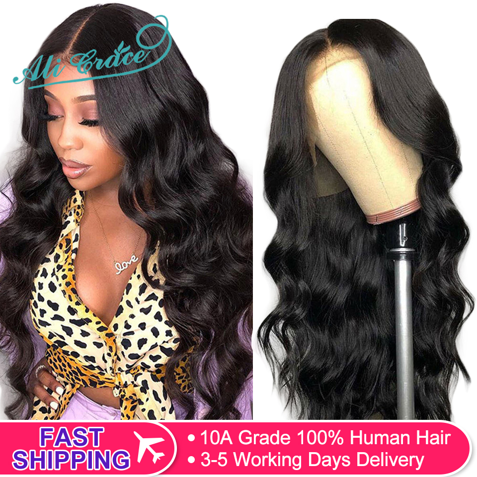 Wig Human-Hair-Wigs Ali-Grace Natural-Hairline Body-Wave Lace-Front Pre-Plucked Brazilian