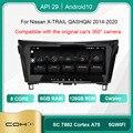 COHO для NISSAN X-TRAIL QASHQAI 2014-2020 Android 10,0 Octa Core 6 + 128G Автомобильный мультимедийный плеер стерео приемник радио