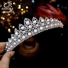 Tiaras tiaras pérolas zircão casamento nupcial coroas casamento acessórios para o cabelo jóias