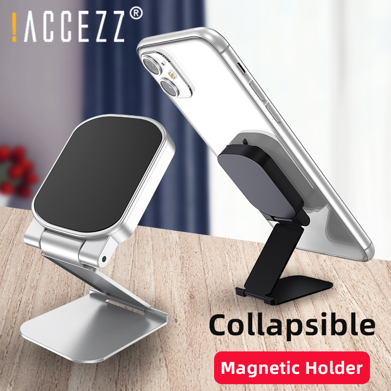 !ACCEZZ Magnetic Holder For Phone In Car For IPhone 11 Pro Max X Samsung Xiaomi Desk Tablet Folding Stand Desktop Magnet Bracket