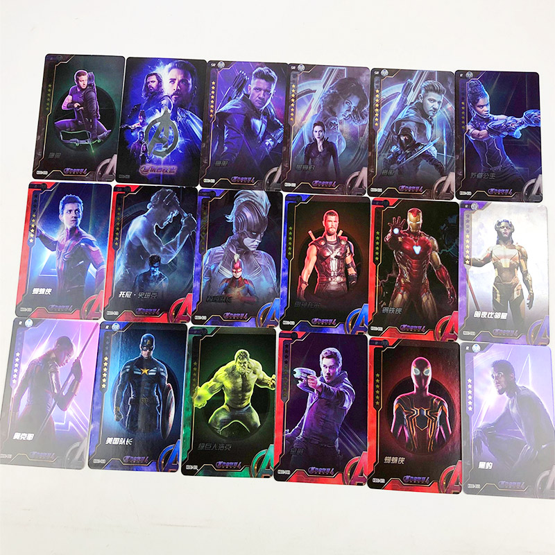 Marvel Avengers Captain America Shield Collection Card Spider-Man Iron Man Green Giant Batman Collection Card Card 2