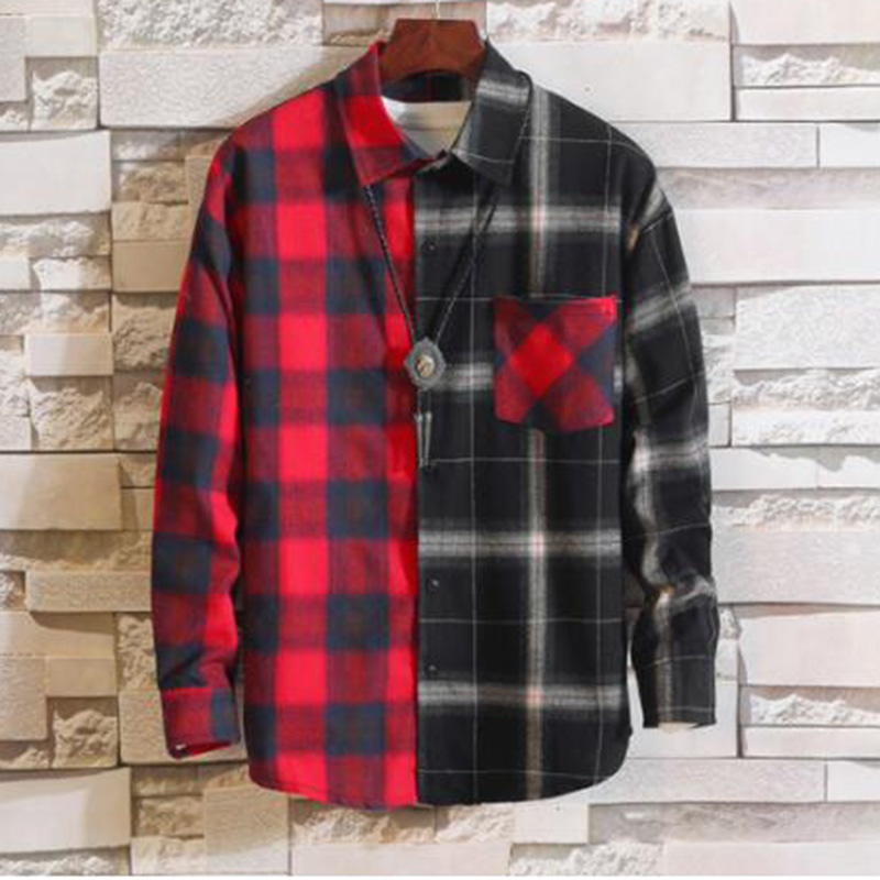 MODA VELOCE Red And Black Plaid Shirt Men Beach Shirts For Men  Casual Regular Fit Shirts Cotton