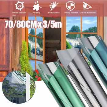 70 80 #215 30 0 500Cm lustro półprzepuszczalne folia okienna samoprzylepna folia odblaskowa Solar Anti UV naklejki na okna do domu i biura tanie i dobre opinie Meigar CN (pochodzenie) Samoprzylepne Statyczne czepiać Szkło filmy