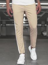 Męskie spodnie dorywczo spodnie Skinny fit Track Bottom jesienne spodnie dresowe męskie spodnie boczne paski moda męska nowe spodnie joggery tanie tanio WZFJM Ołówek spodnie CN (pochodzenie) Mieszkanie Poliester Kieszenie REGULAR 2 26 - 2 63 Pełnej długości FJ-03 Na co dzień