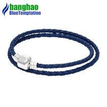 bracelet charms silver joyas de plata 925 original perles pour la fabrication bijoux jewelry blue bracelets for women