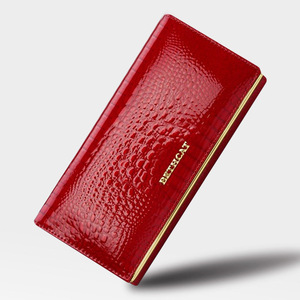 Image 2 - HH Alligator Womens Wallets Luxury Patent Fashion Genuine Leather Ladies Clutch Purse Hasp Long coin Multifunctional purses