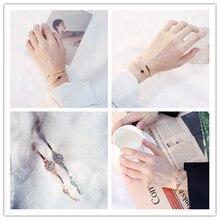 Single Bracelet Refined and Simple Japanese Korean Retro Bracelet Double Design Geometric Bracelet Temperament Bracelet Female pdrh030 female retro bracelet
