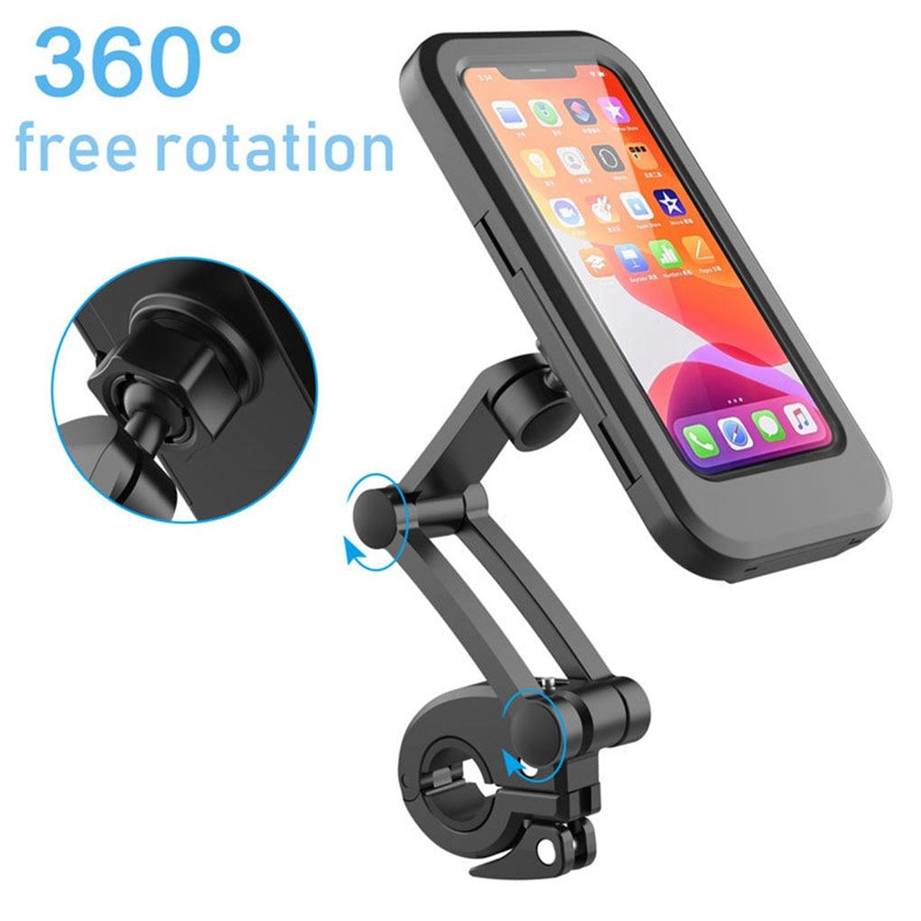 Soporte Universal para manillar de bicicleta y motocicleta, ajustable, resistente al agua, para teléfono móvil, Iphone