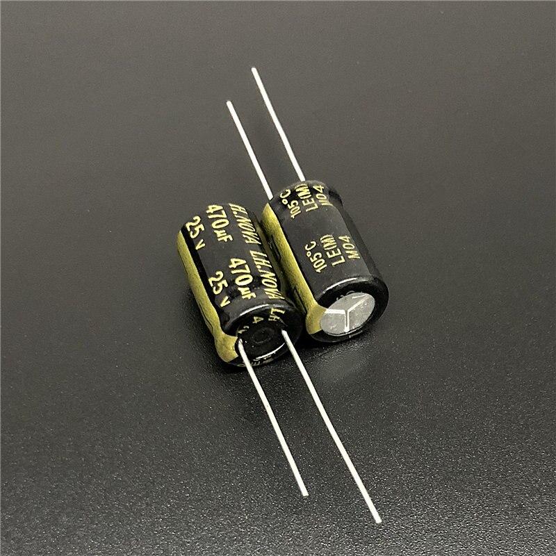 10Pcs/100Pcs 470uF 25V LH.NOVA LE Series 10x16mm 25V470uF Low ESR Long Life Aluminum Electrolytic Capacitor