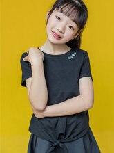 2020 летняя футболка для девочек 8 10 12 14 16 лет модный топ
