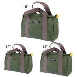 Multi-função de lona à prova dwaterproof água mão ferramenta de armazenamento carry bags portátil toolkit metal peças de ferragem organizador bolsa 1 pcs