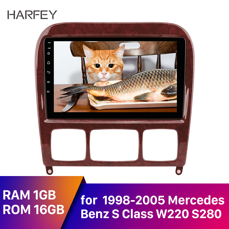 Harfey 9'' Android 8.1 Car Radio <font><b>GPS</b></font> Navi <font><b>for</b></font> <font><b>Mercedes</b></font> Benz S Class W220 S280 S320 S350 S400 S430 <font><b>S500</b></font> 1998-2005 Audio with AUX image