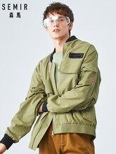 SEMIR 2019 autumn new coat men clothing wind baseball collar jacket ribbon imitation men jacket jacket loose
