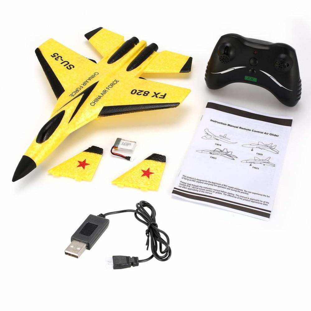 Drone RC jouets d'extérieur pour enfants, 2.4G, lancement de la main, modèle à aile fixe en mousse, avion éducatif, télécommande, cadeaux pour enfants 4