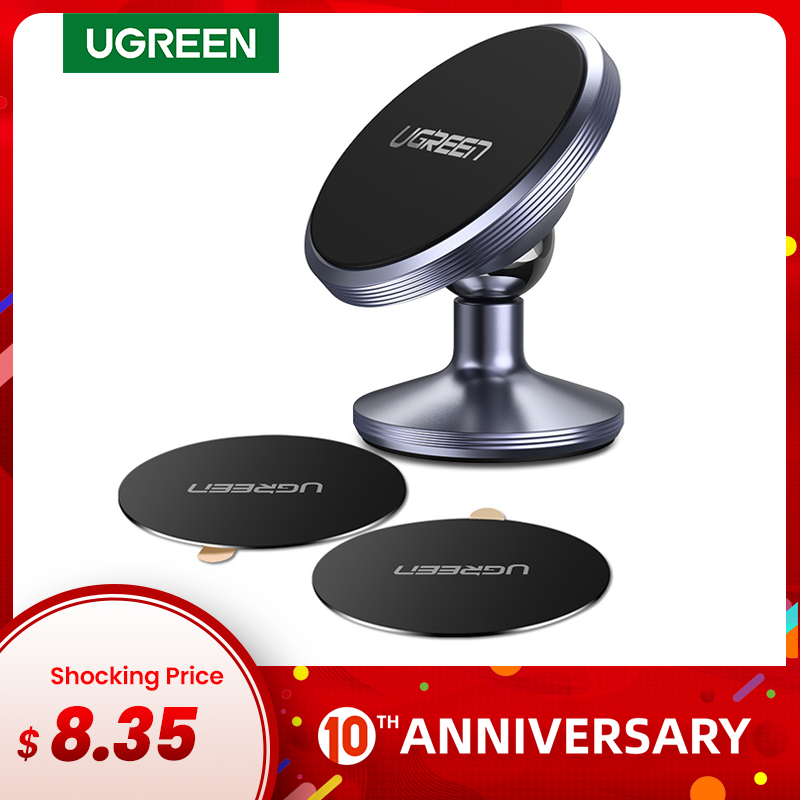 Ugreen Car Magnetic Phone Holder Cell Phone Holder Stand In Car Smartphone Support Magnet For S10 Mobile Stand Holder